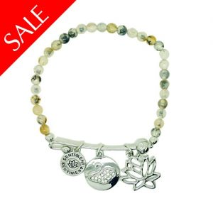 Sentiment Beaded Tranquility Charm Bracelet