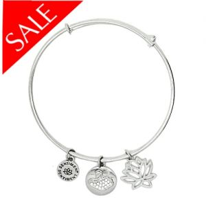 Sentiment Swan Silver Bangle