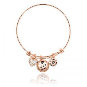 Sentiment Little Love Rose Gold Bangle