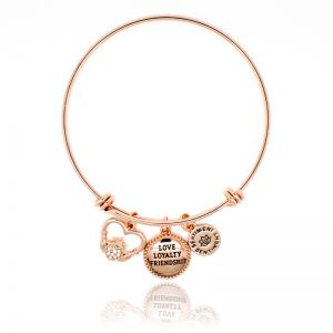 Sentiment Love Loyalty Friendship Rose Gold Bangle