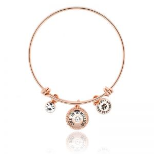 Sentiment One In A Million Rose Gold Bangle