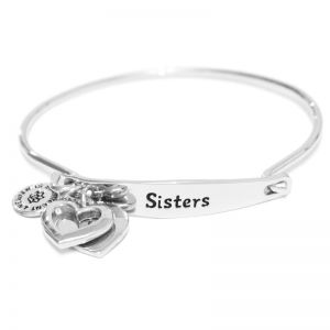 Sentiment Sisters ID Silver bangle