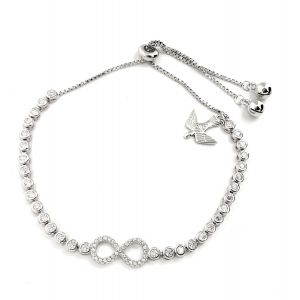 K & Co. Sterling Silver Infinity Bracelet