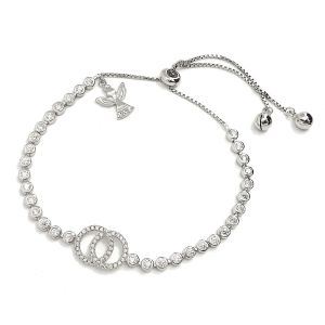 K & Co. Adjustable Sterling Silver Bracelet