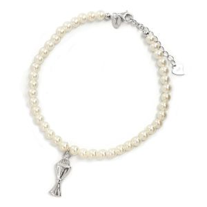 K & Co. Adjustable Sterling Silver Communion Bracelet