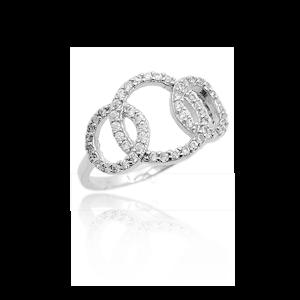 Karine & Co. Sterling Silver CZ Ring