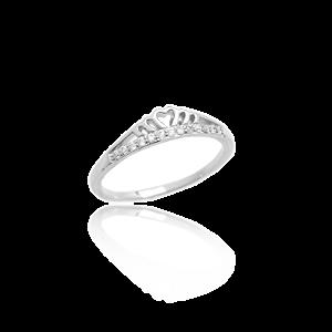 K & Co. Sterling Silver CZ Ring
