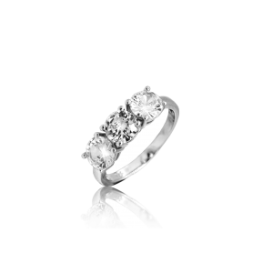 K&Co. Sterling Silver CZ Ring