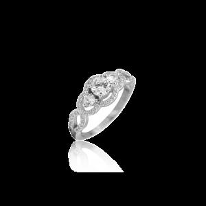 K & Co Sterling Silver CZ Ring