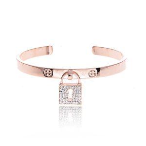 Matisse Rose Gold Bangle Bracelet
