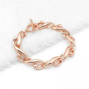 Matisse Rose Gold Swirl Link Bracelet
