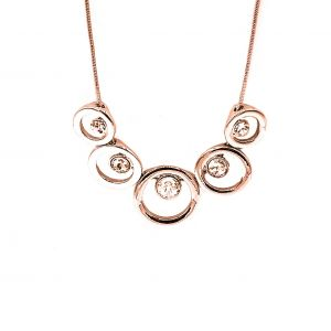 Matisse Rose Gold Circle Crystal Necklace