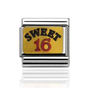 Charmlinks Gold Sweet Sixteen Charm