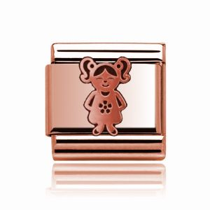 Charmlinks Rose Gold Girl Charm