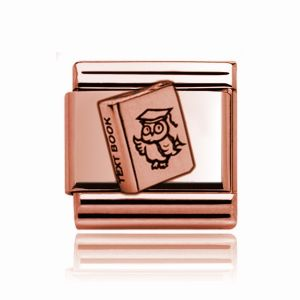Charmlinks Rose Gold Text Book Charm
