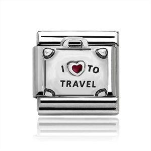 Charmlinks Silver I Love Travel Charm