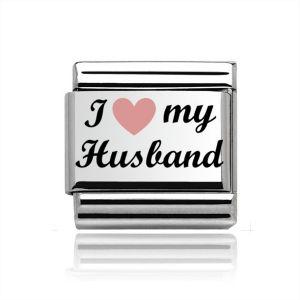Charmlinks Silver I Heart my Husband Charm