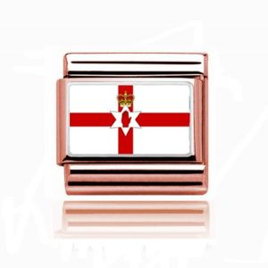 Charmlinks Rose Gold Northern Ireland Flag Charm