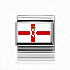 Charmlinks Silver Northern Ireland Flag Charm