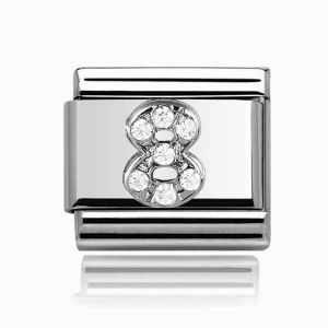 Charmlinks Silver 8 Charm