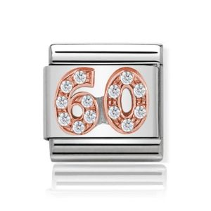 Charmlinks Rose Gold on Silver 60 Charm