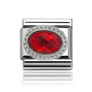 Charmlinks Silver Ruby Charm
