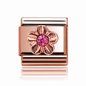 Charmlinks Rose Gold Flower Charm