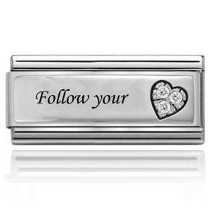 Charmlinks Follow Your Heart Silver Super Charm