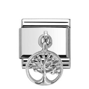 Charmlinks Silver Tree Drop Charm