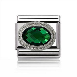 Charmlinks Silver Emerald Charm