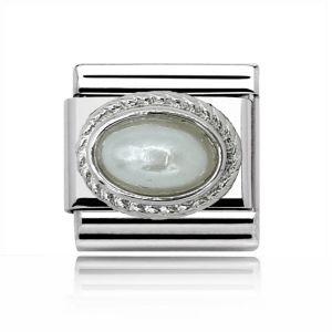 Charmlinks Silver Pearl Charm