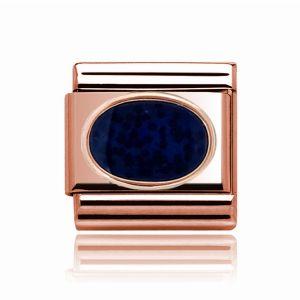 Charmlinks Rose Gold Dark Blue Stone Charm
