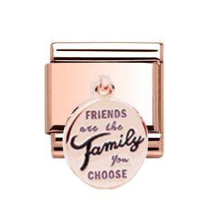 Charmlinks Rose Gold Friends Drop Charm