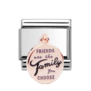 Charmlinks Rose Gold on Silver Friends Drop Charm