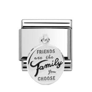 Charmlinks Silver Friends Drop Charm