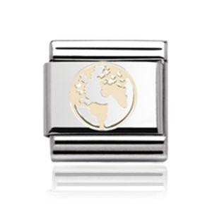 Charmlinks Gold Globe Charm