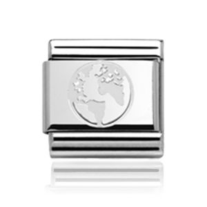 Charmlinks Silver Globe Charm
