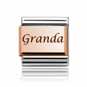 Charmlinks Rose Gold on Silver Granda Charm