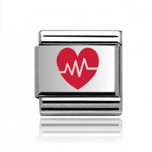 Charmlinks Silver Heartbeat Charm
