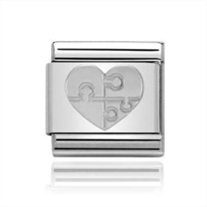 Charmlinks Silver Heart with Puzzle Charm