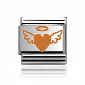 Charmlinks Rose Gold Heart and Wings Charm