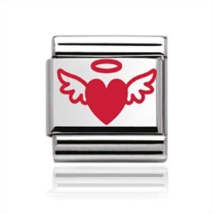 Charmlinks Heart and Wings Charm