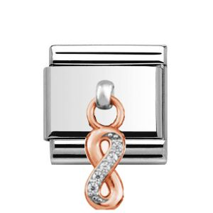 Charmlinks Rose Gold Infinity Drop Charm