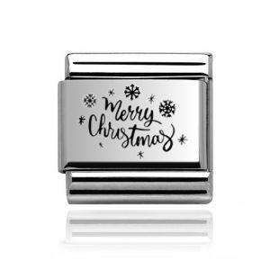 Charmlinks Silver Merry Christmas Charm