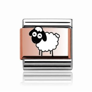 Charmlinks Rose Gold on Silver Sheep Charm