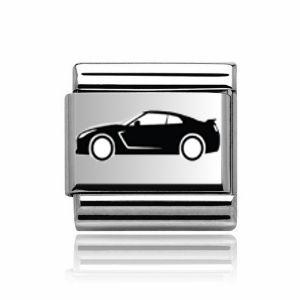 Charmlinks Silver Sports Car Charm