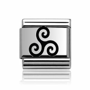 Charmlinks Silver Triskelion Charm