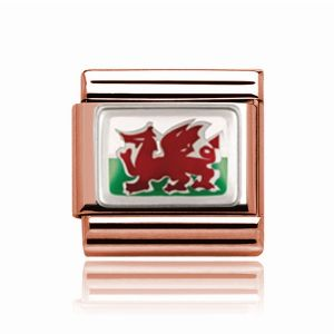 Charmlinks Rose Gold Wales Charm