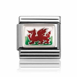 Charmlinks Silver Wales Charm