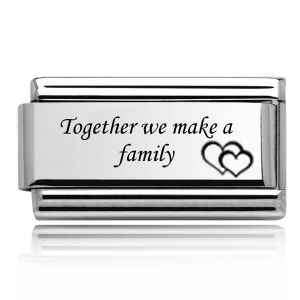 Charmlinks Silver on Silver Together we make a Family Double Charm